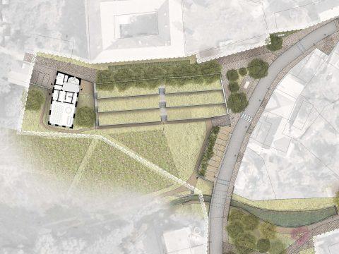 Úpravy veřejných prostor centra obce Statenice
