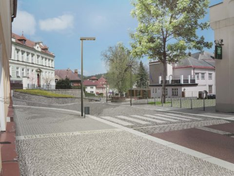 Územní studie Veřejná prostranství Vimperk – ulice 1. máje a Pivovarská