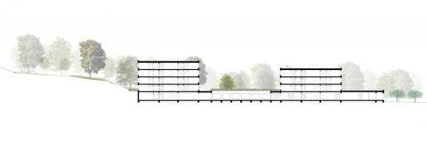 """3.místo v architektonické soutěži: """"Sociálně zdravotní komplex Červený kopec"""""""