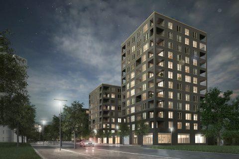 """1.místo ve vyzvané architektonické soutěži """"Výstavba bytového komplexu Andromeda"""""""