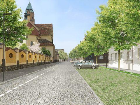 Obnova Jiráskova náměstí a klášterní zahrady v Plzni
