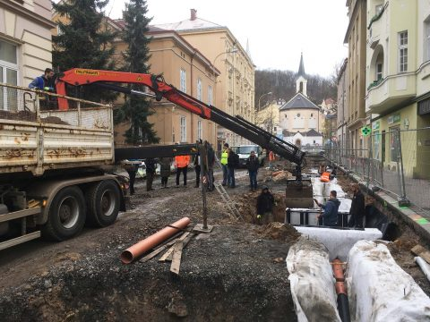 Reconstruction of Bezručová street in Děčín has begun