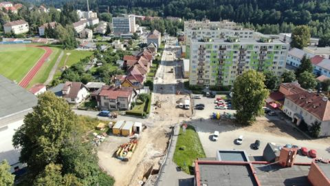 The 1st stage of reconstruction in Vimperk is being completed